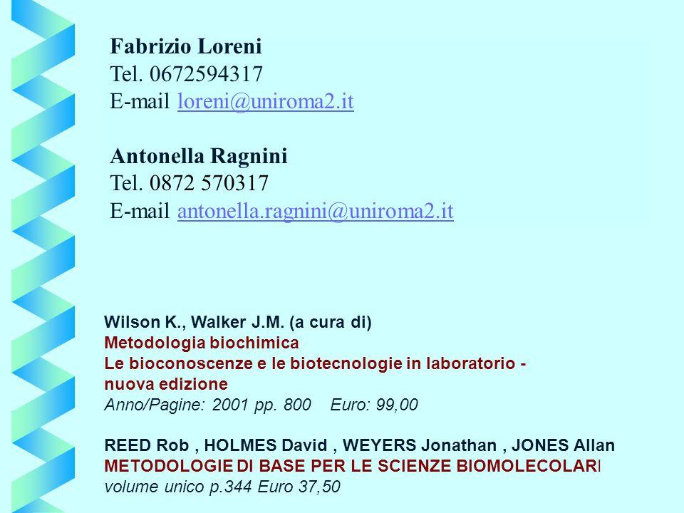 Wilson K., Walker J.M. (a cura di) Metodologia biochimica Le bioconoscenze e le biotecnologie in laboratorio - nuova edizione Anno/Pagine: 2001 pp. 80