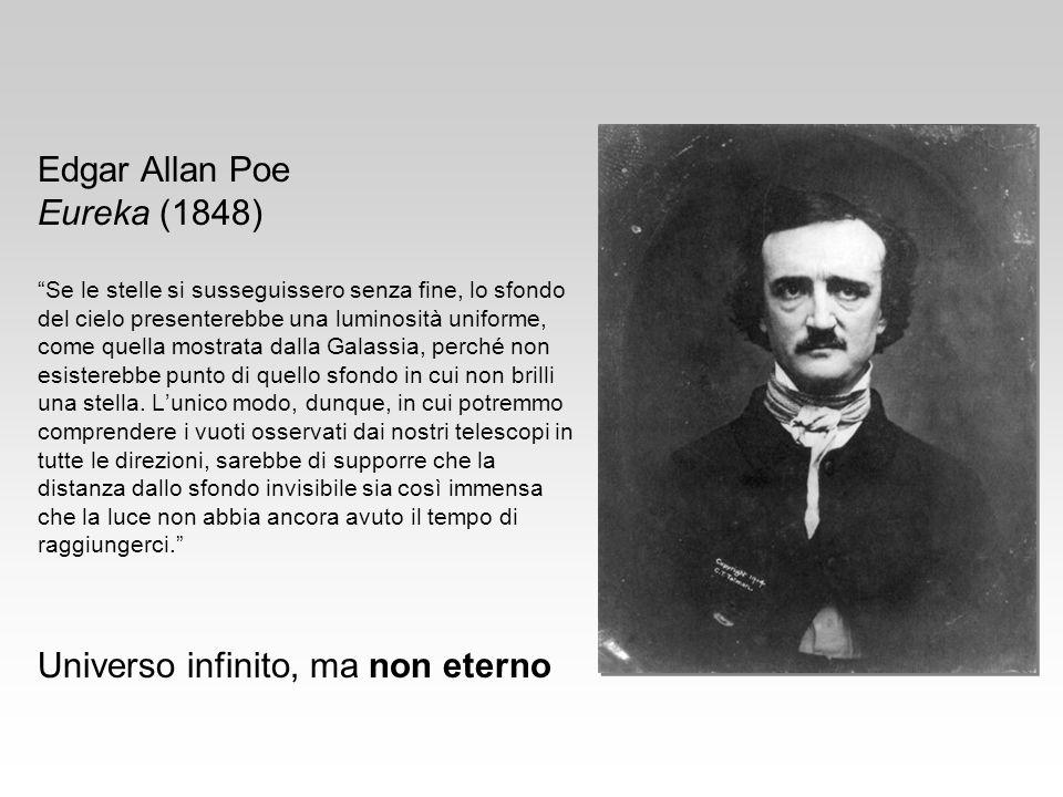 Edgar Allan Poe Eureka (1848) Se le stelle si susseguissero senza fine, lo sfondo del cielo presenterebbe una luminosità uniforme, come quella mostrat