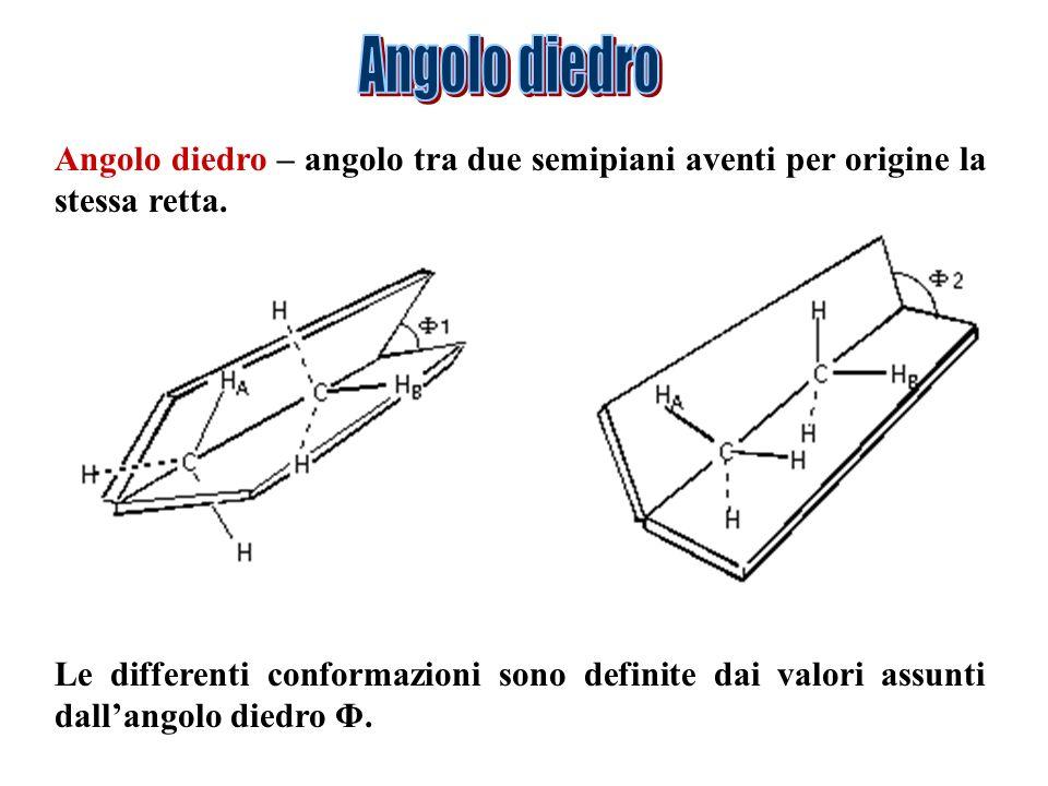 A BC D A BC D = 0° = 0° conformazione cis = 180° = 180° conformazione trans