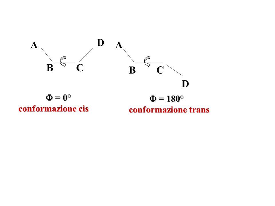 = stati energetici della molecola corrispondenti ai minimi di energia conformazionale Per E(Φ)>>RT sono gli unici effettivamente popolati: Le molecole si trovano nel fondo delle buche di energia potenziale e linterconversione tra isomeri conformazionali è praticamente nulla.