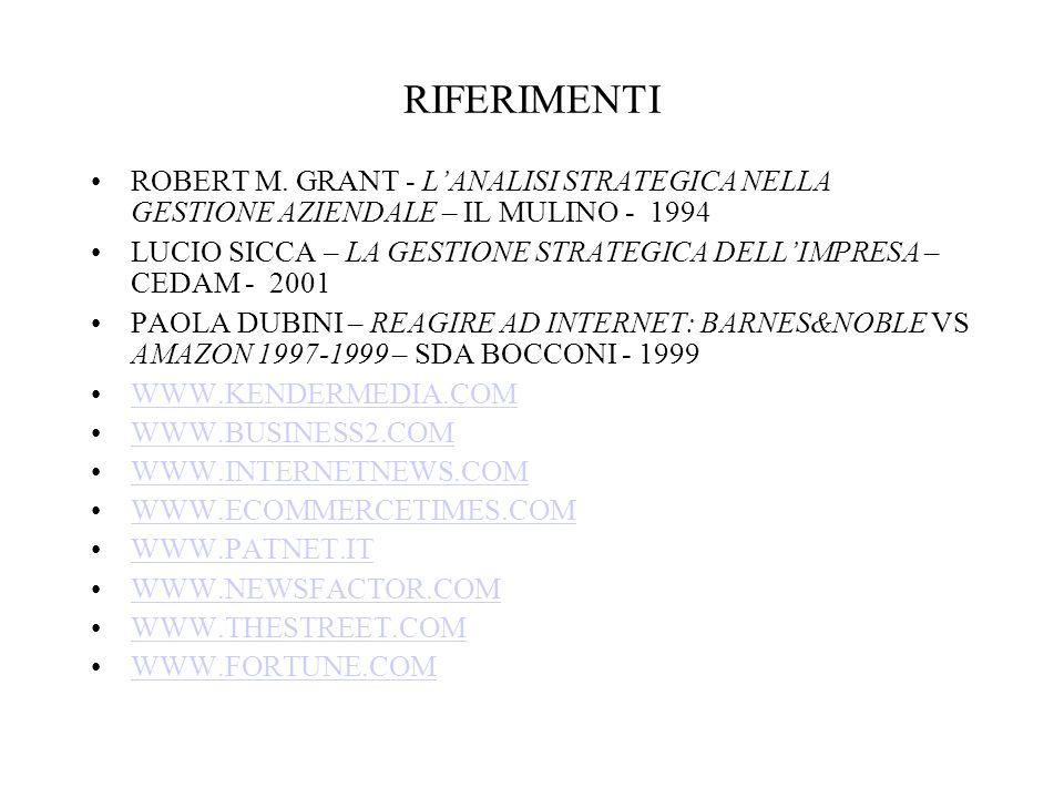 RIFERIMENTI ROBERT M.