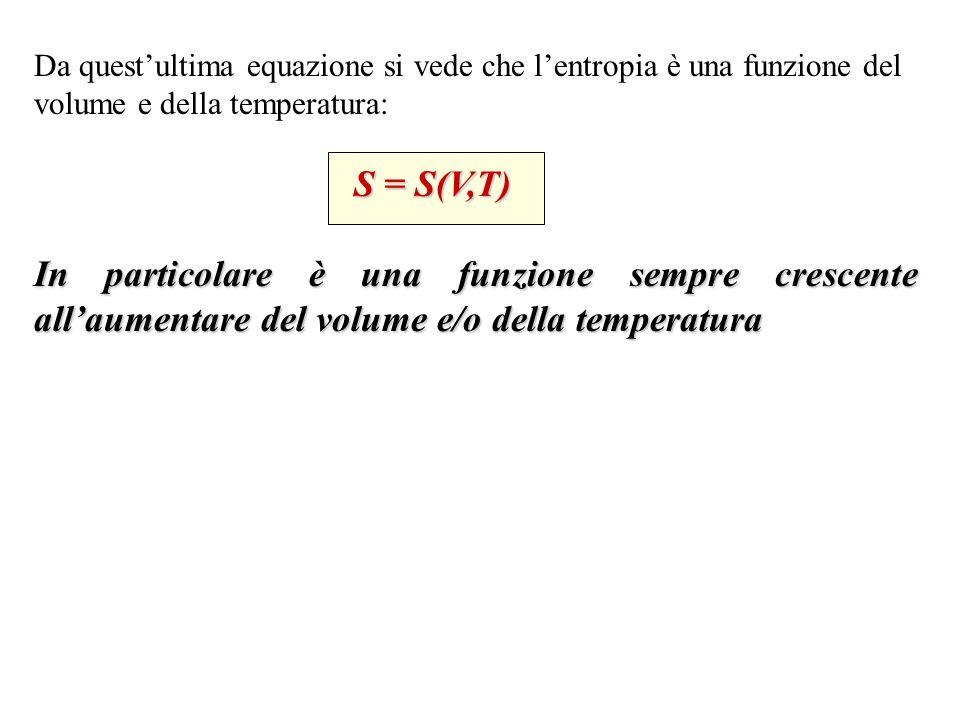 Per una variazione di temperatura a V costante: Es.