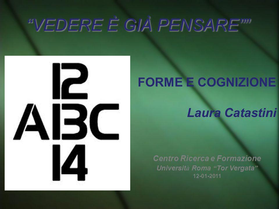 VEDERE È GIÀ PENSARE FORME E COGNIZIONE Laura Catastini Centro Ricerca e Formazione Universit à Roma Tor Vergata 12-01-2011