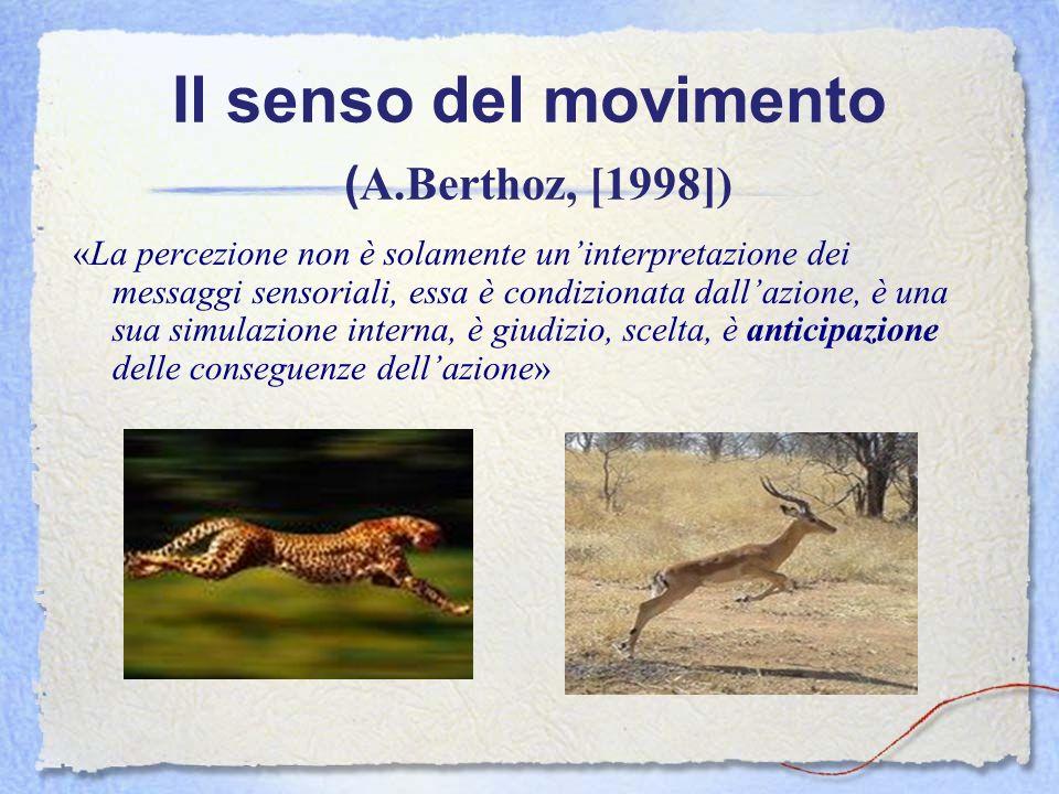 Il senso del movimento ( A.Berthoz, [1998]) «La percezione non è solamente uninterpretazione dei messaggi sensoriali, essa è condizionata dallazione,