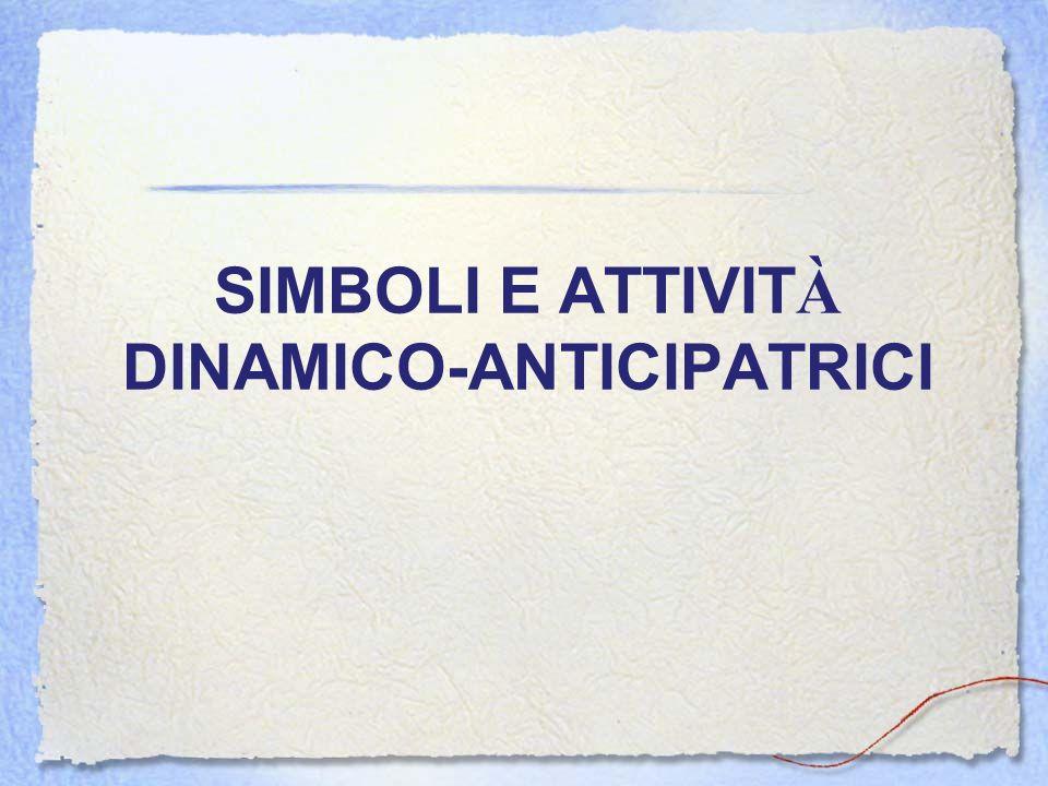 SIMBOLI E ATTIVIT À DINAMICO-ANTICIPATRICI