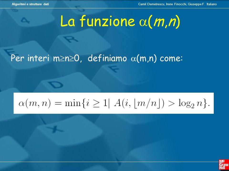 Camil Demetrescu, Irene Finocchi, Giuseppe F. ItalianoAlgoritmi e strutture dati La funzione (m,n) Per interi m n 0, definiamo (m,n) come: