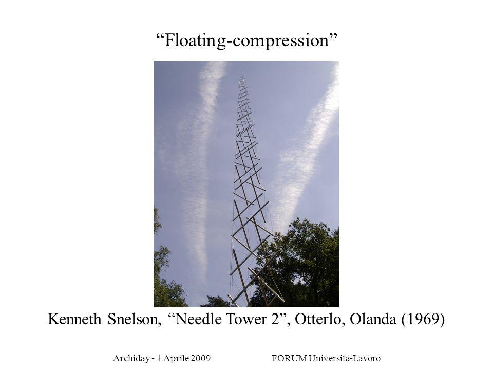 Archiday - 1 Aprile 2009 FORUM Università-Lavoro Kenneth Snelson, Needle Tower 2, Otterlo, Olanda (1969) Floating-compression
