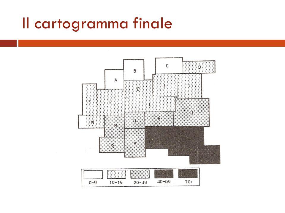 Il cartogramma finale