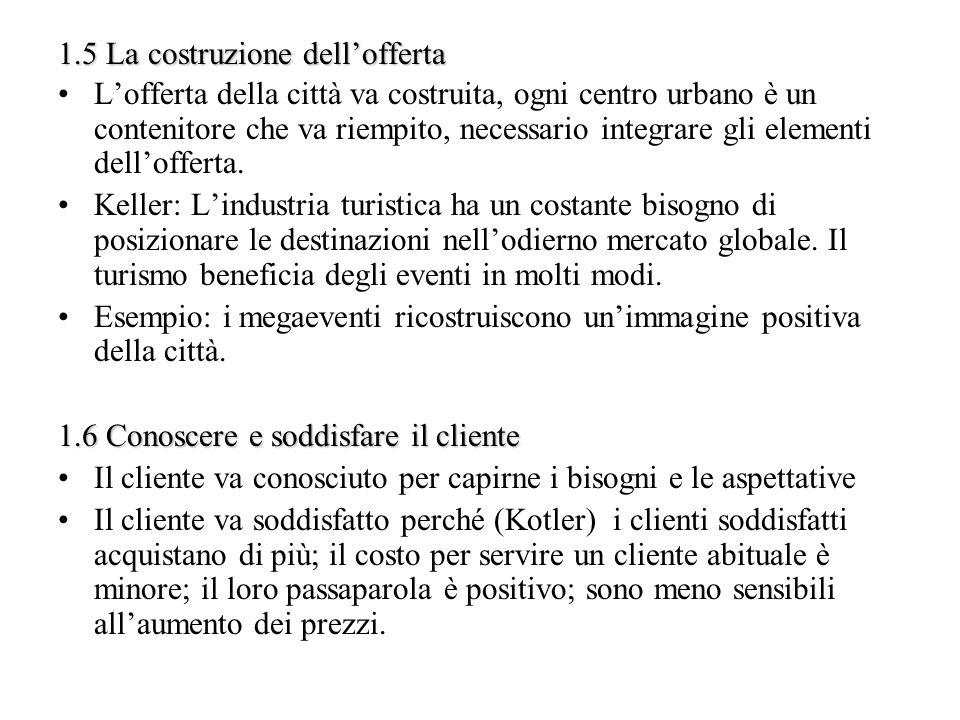 2 La strategia della destinazione turistica 2.1 Il prodotto turistico e i sistemi di offerta I sistemi di offerta turistica: Economia locale Società (popolazione locale) Attrazione Visibilità e accessibilità della destinazione.
