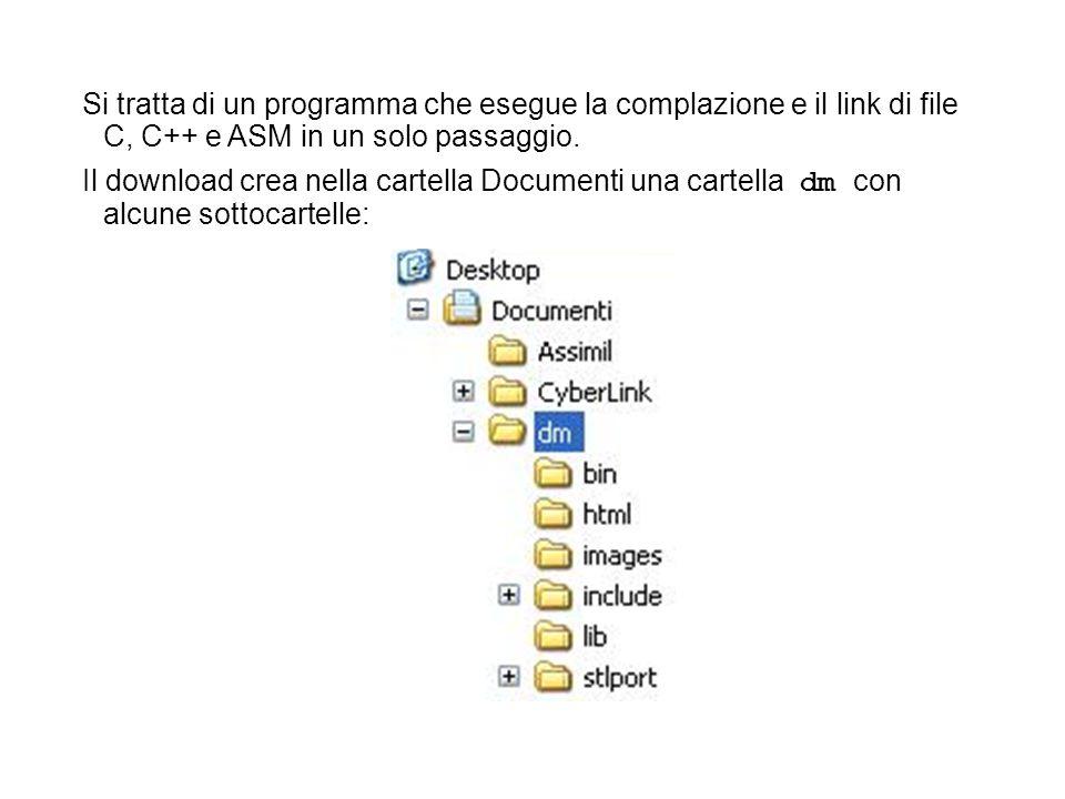 Si tratta di un programma che esegue la complazione e il link di file C, C++ e ASM in un solo passaggio.