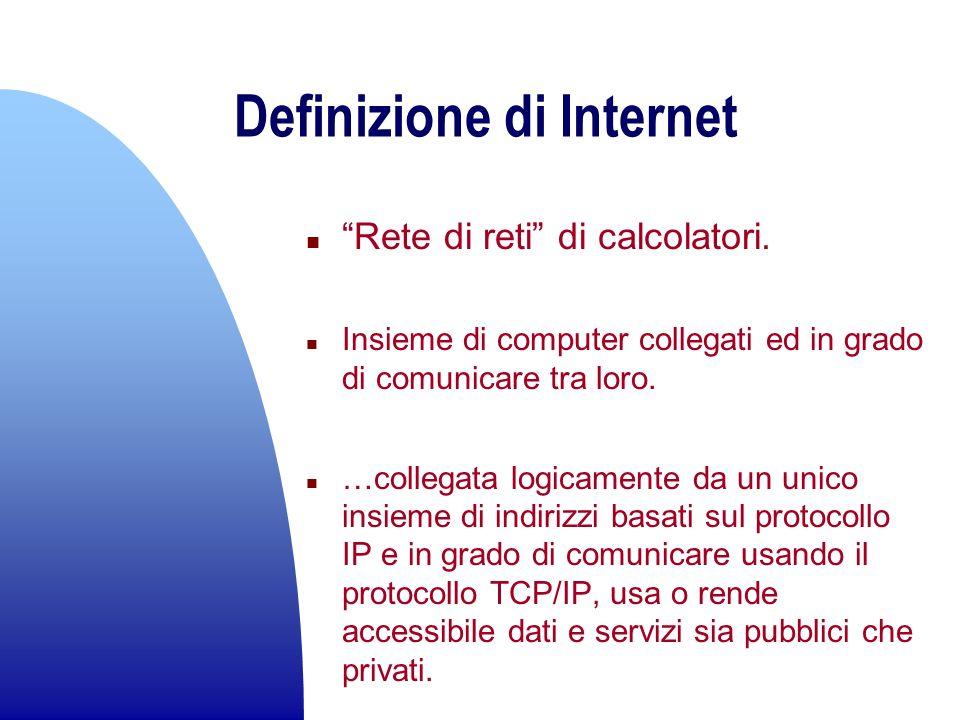 n Normali linee telefoniche n Università ed enti pubblici e scientifici n Indipendenza delle connessioni n 1987 IBM, MCI, Merit Network Inc.