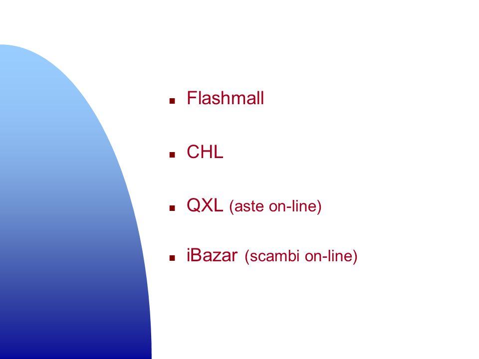 n Flashmall n CHL n QXL (aste on-line) n iBazar (scambi on-line)