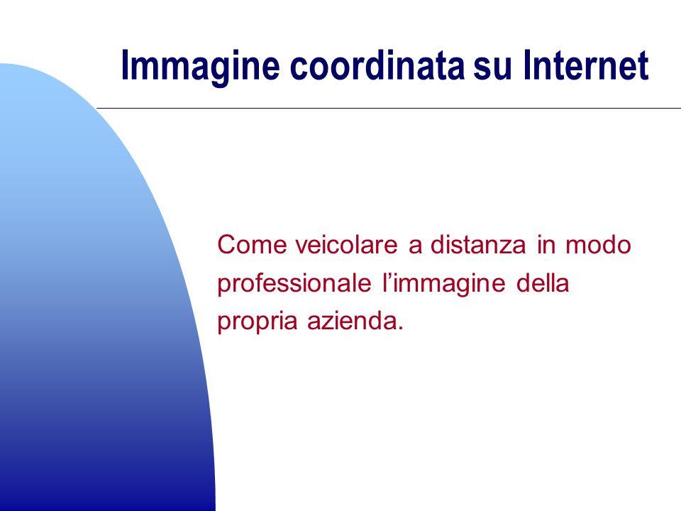 Immagine coordinata su Internet Come veicolare a distanza in modo professionale limmagine della propria azienda.