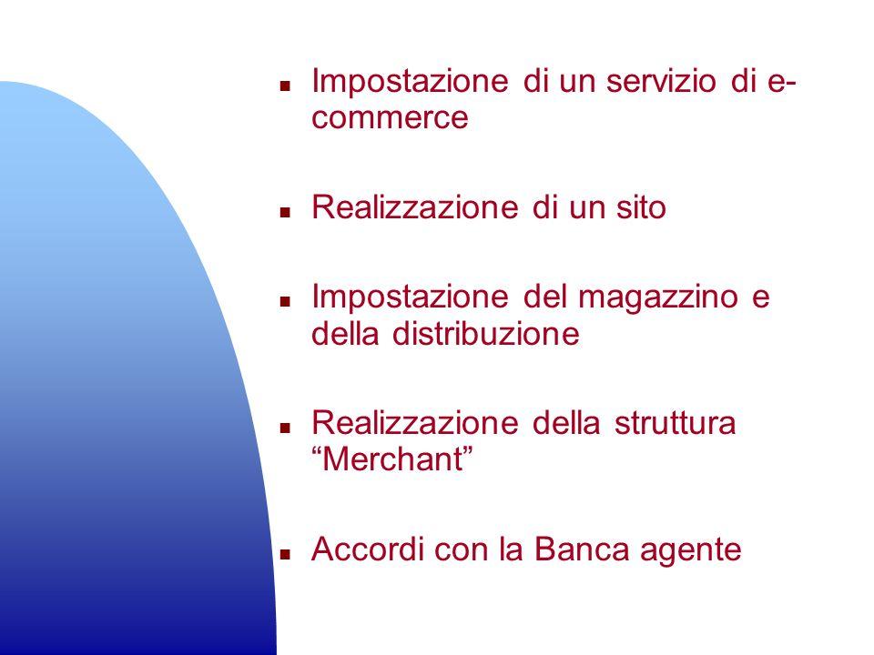 n Impostazione di un servizio di e- commerce n Realizzazione di un sito n Impostazione del magazzino e della distribuzione n Realizzazione della strut