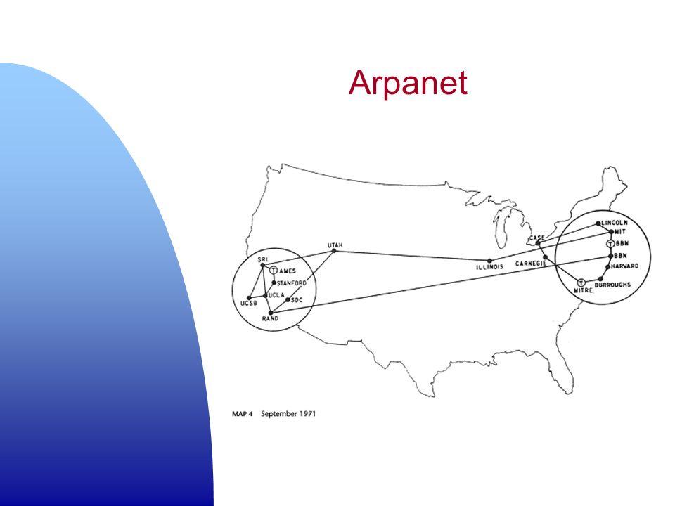 n Le basi per lo sfruttamento commerciale della rete.