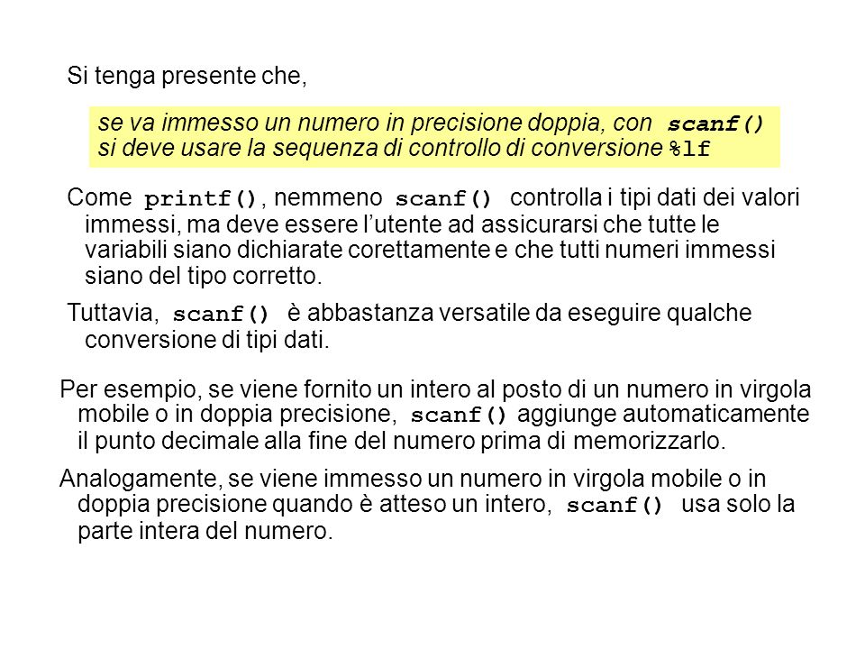 Istruzione if-else.