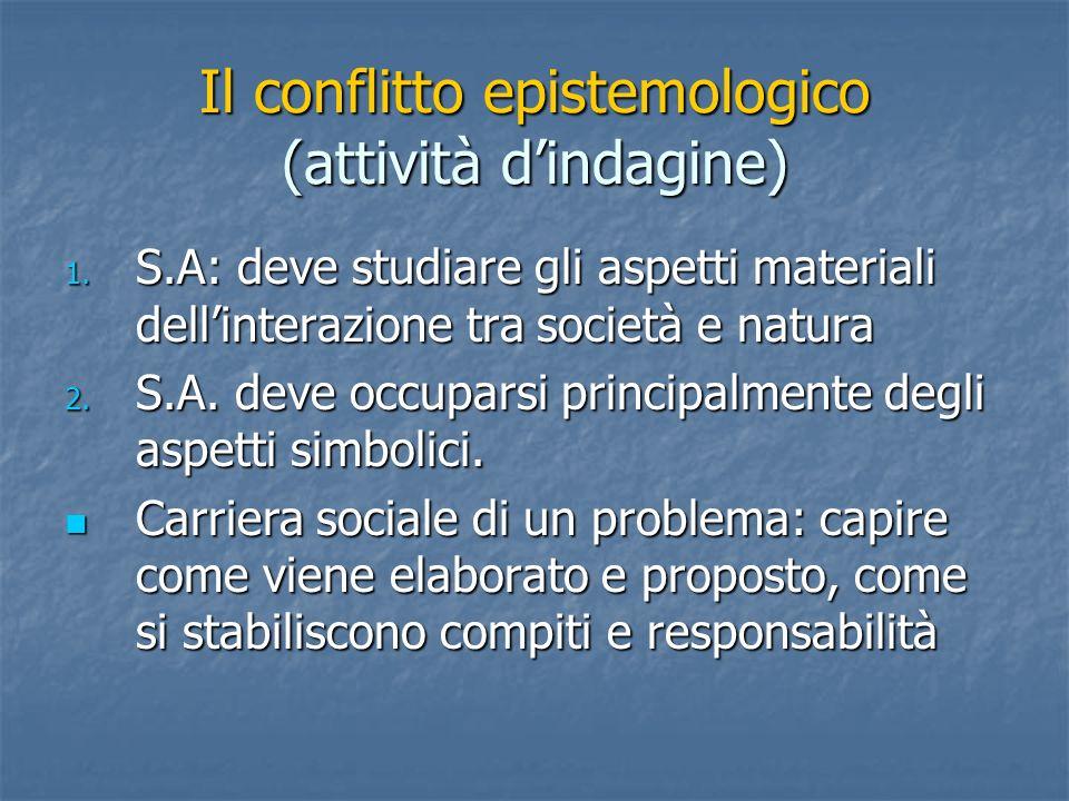 Il conflitto epistemologico (attività dindagine) 1.