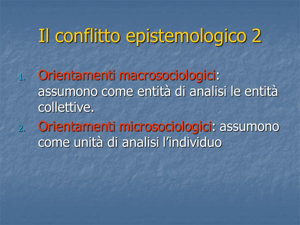 Il conflitto epistemologico 2 1.