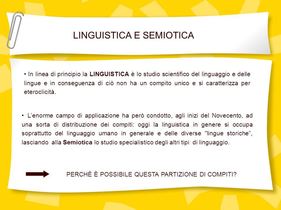 In linea di principio la LINGUISTICA è lo studio scientifico del linguaggio e delle lingue e in conseguenza di ciò non ha un compito unico e si caratt