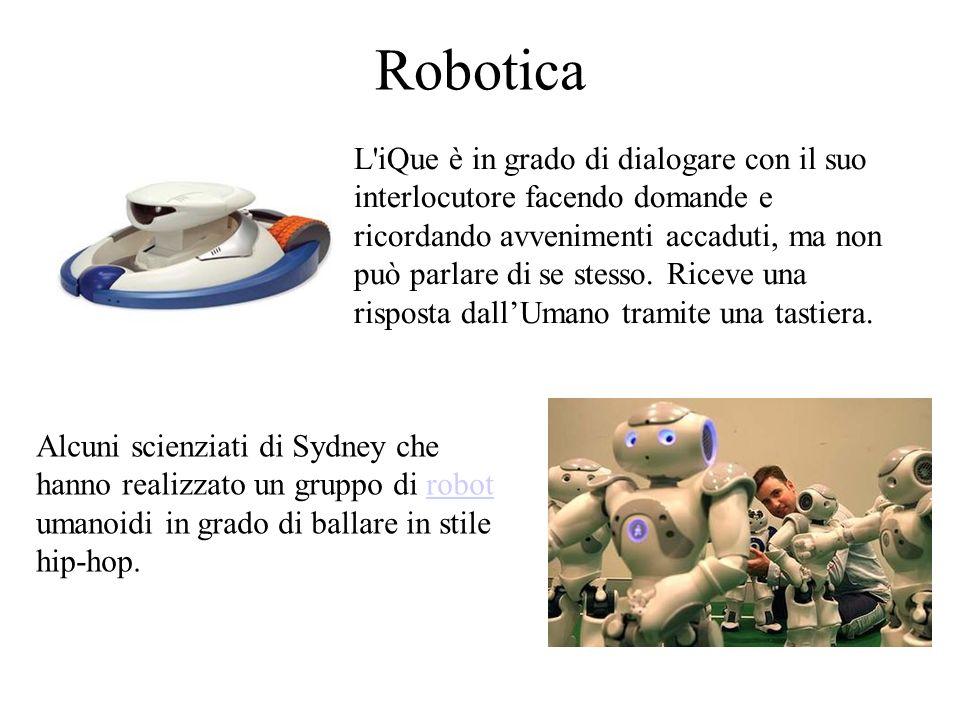 Robotica L iQue è in grado di dialogare con il suo interlocutore facendo domande e ricordando avvenimenti accaduti, ma non può parlare di se stesso.