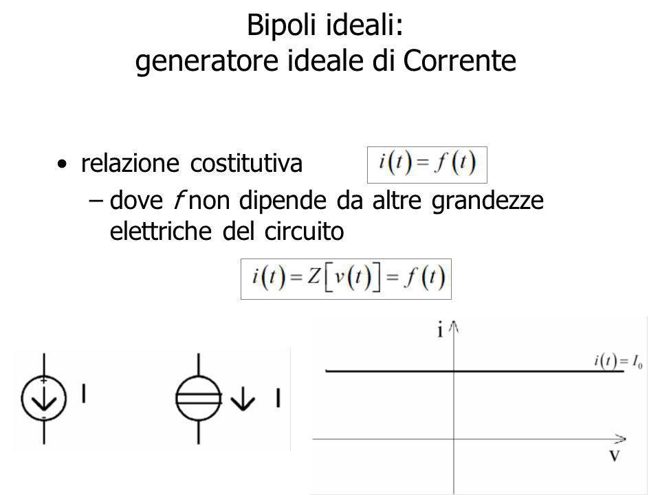 15 Generatori ideali di Corrente Fisicamente non realizzabili I1I1 I2I2
