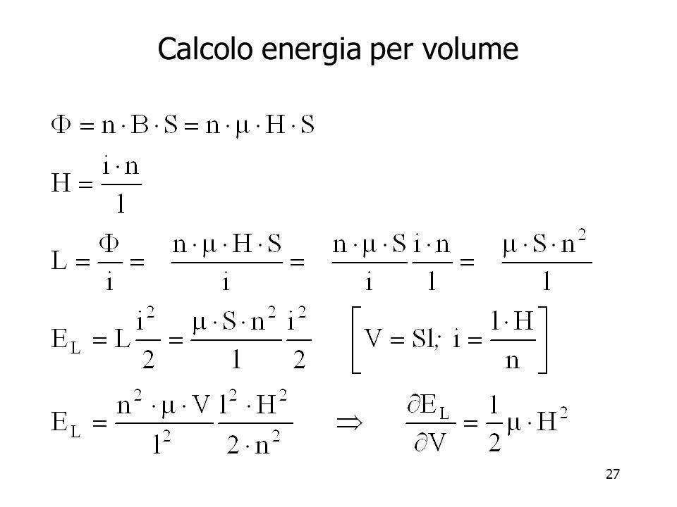 27 Calcolo energia per volume