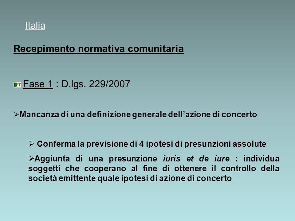 Fase 2 : D.lgs. 146/2009 (c.d.