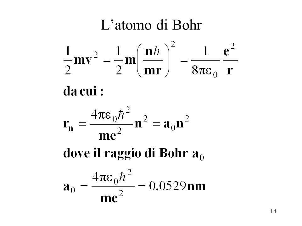 14 Latomo di Bohr