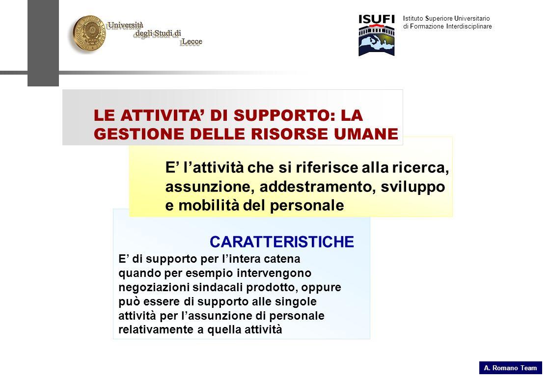 CARATTERISTICHE E di supporto per lintera catena quando per esempio intervengono negoziazioni sindacali prodotto, oppure può essere di supporto alle s