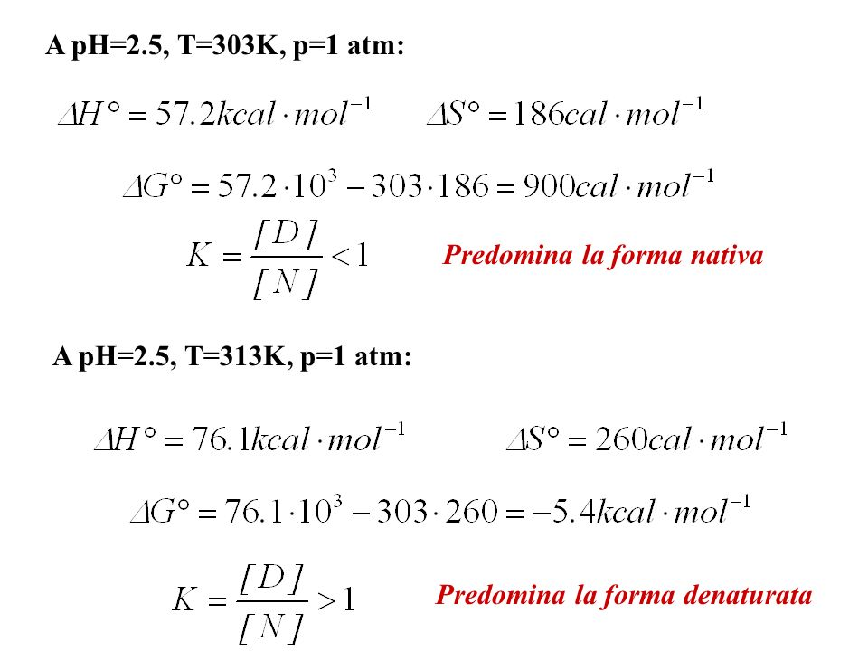Allaumentare della temperatura cresce il peso del contributo entropico favorevole, favorendo il processo di denaturazione.