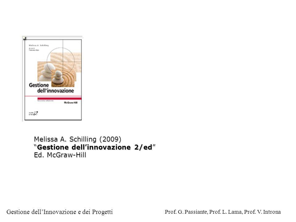 Gestione dellInnovazione e dei Progetti Prof. G. Passiante, Prof. L. Lama, Prof. V. Introna Melissa A. Schilling (2009) Gestione dellinnovazione 2/edG