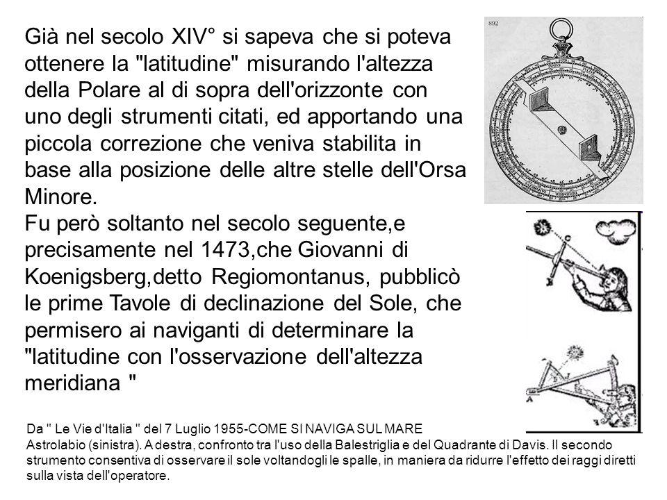 Da Le Vie d Italia del 7 Luglio 1955-COME SI NAVIGA SUL MARE Astrolabio (sinistra).