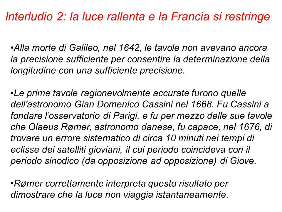 Alla morte di Galileo, nel 1642, le tavole non avevano ancora la precisione sufficiente per consentire la determinazione della longitudine con una suf
