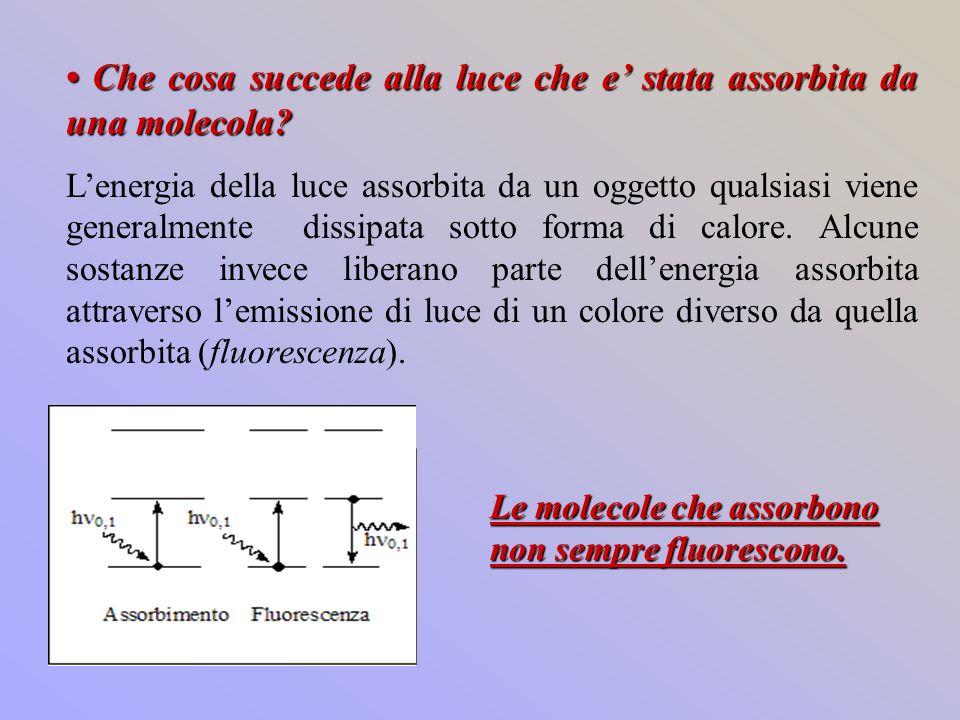 1) 1)eccitazione 2)rilassamento 10 -12 s decadimento non radiativo isoenergetico fra stati di uguale molteplicità 3)decadimento non radiativo 4) decadimento radiativo tra stati elettronici di uguale molteplicità Emissione di radiazione da parte di una molecola eccitata.