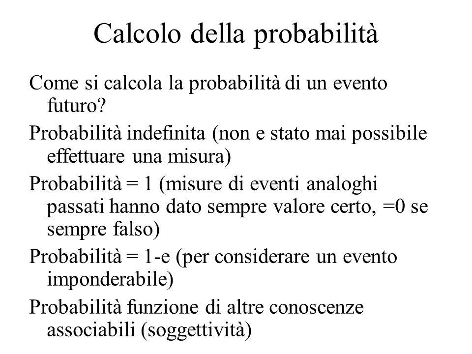 Calcolo della probabilità Come si calcola la probabilità di un evento futuro.