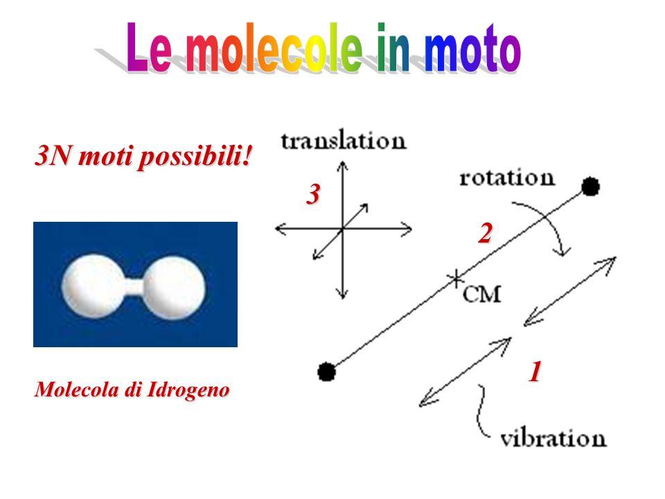 Molecola di Idrogeno 3 2 1 3N moti possibili!