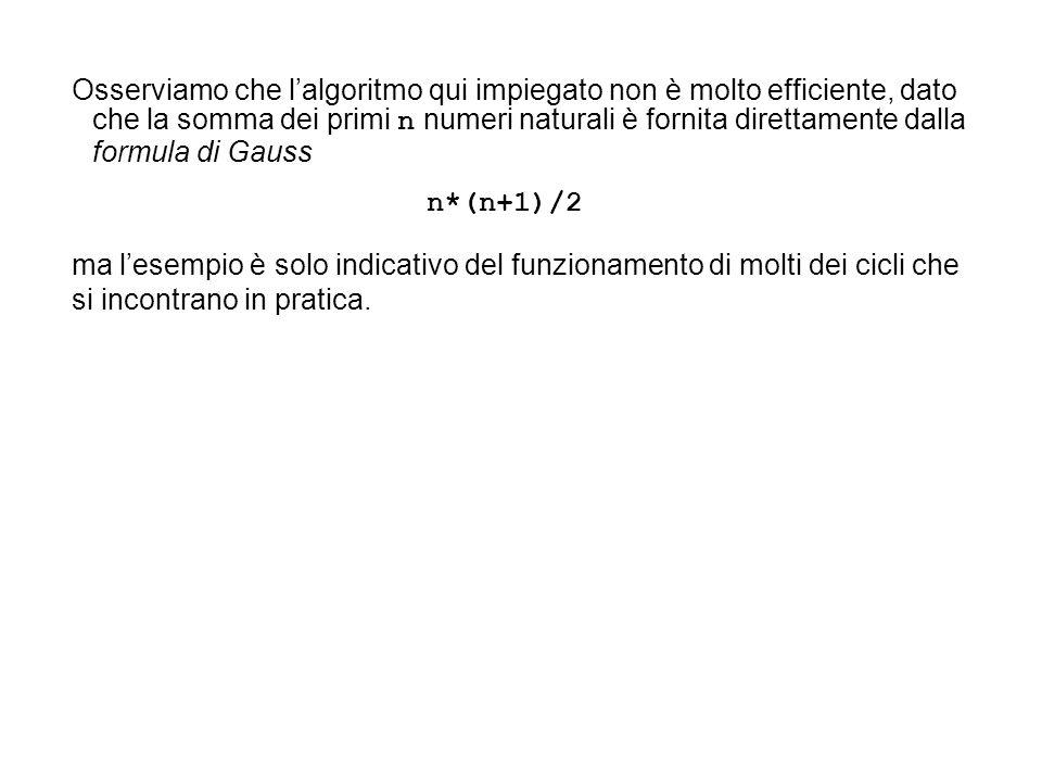 Iterazione con guardia allinizio ( while ).