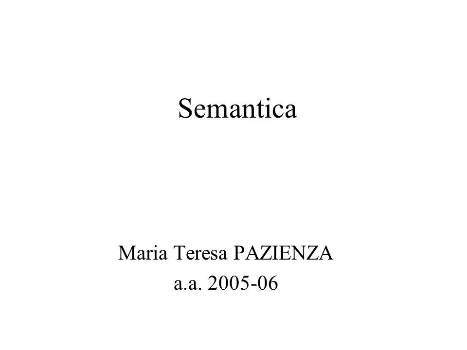 Riferimenti Le presentazioni sugli argomenti di semantica faranno riferimento esplicito ad alcune parti del libro: D.Jurafsky, J.
