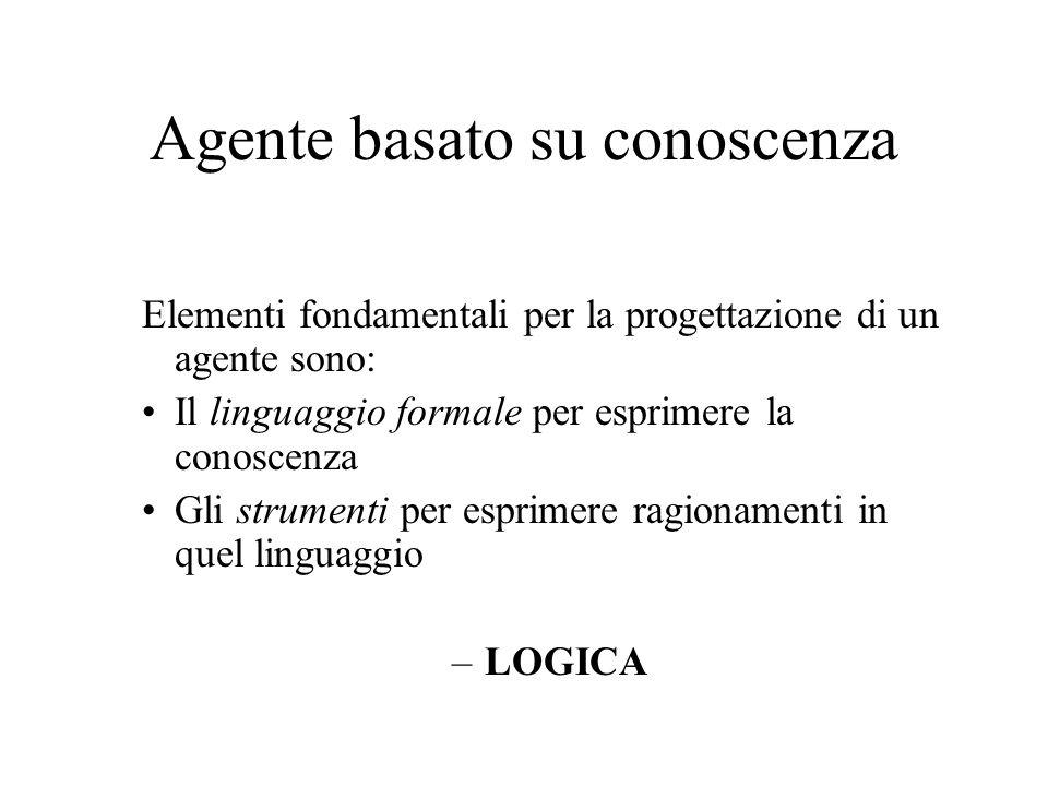 Logica Un sistema formale per la descrizione di stati di cose consiste di: Sintassi del linguaggio Semantica del linguaggio Una teoria della dimostrazione è un insieme di regole per la deduzione delle implicazioni di un insieme di formule