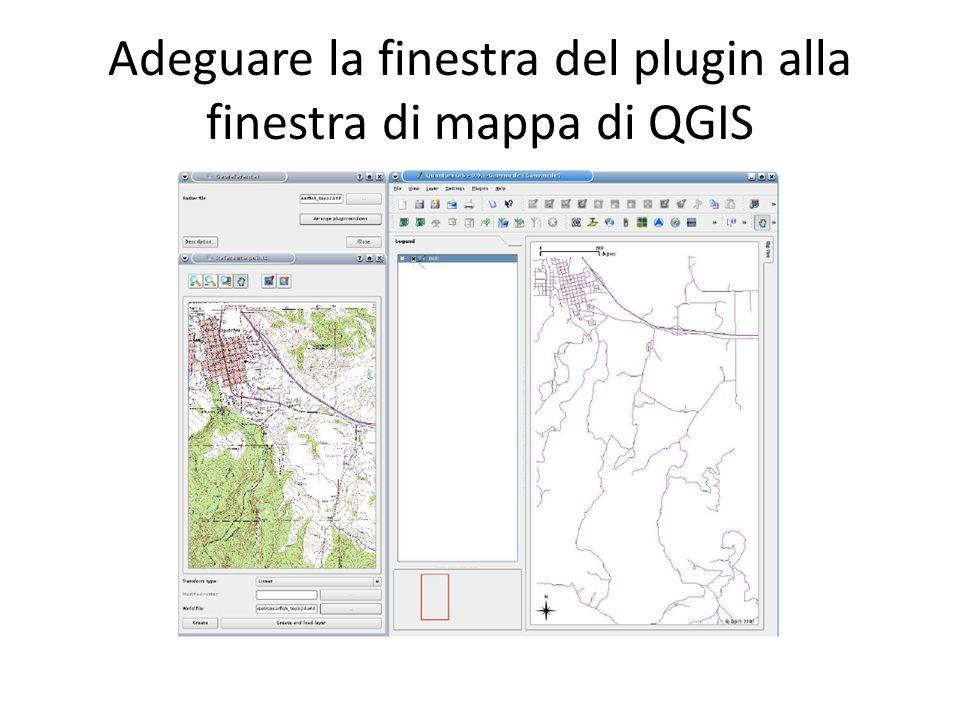 Adeguare la finestra del plugin alla finestra di mappa di QGIS