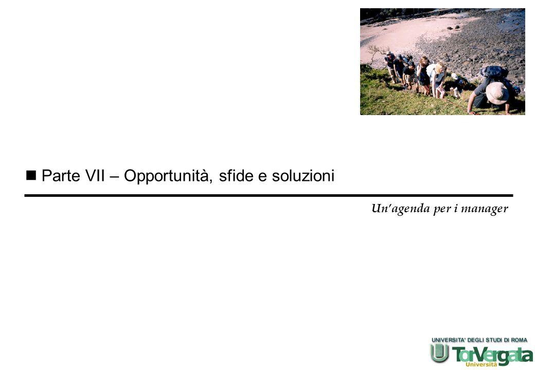Parte VII – Opportunità, sfide e soluzioni Unagenda per i manager