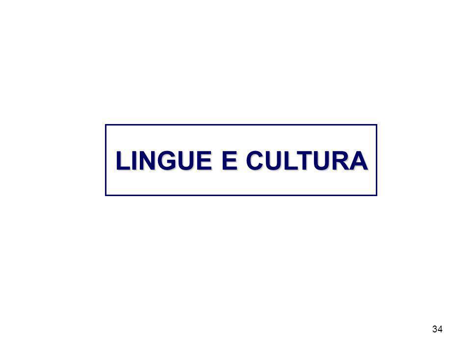 34 LINGUE E CULTURA