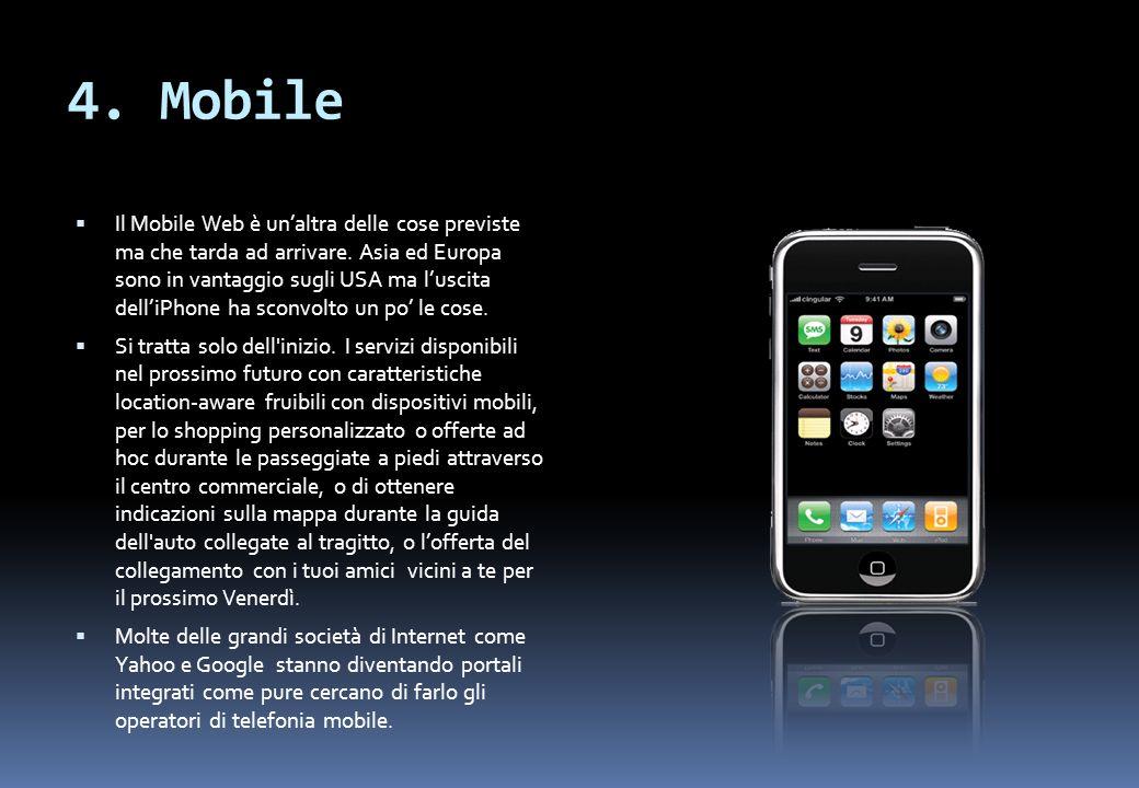 4. Mobile Il Mobile Web è unaltra delle cose previste ma che tarda ad arrivare.