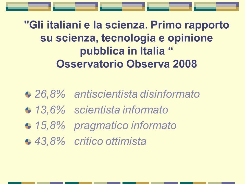 Gli italiani e la scienza.