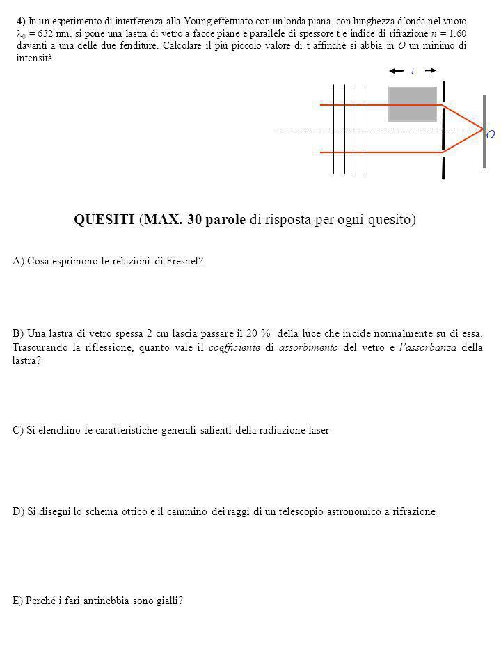 QUESITI (MAX.