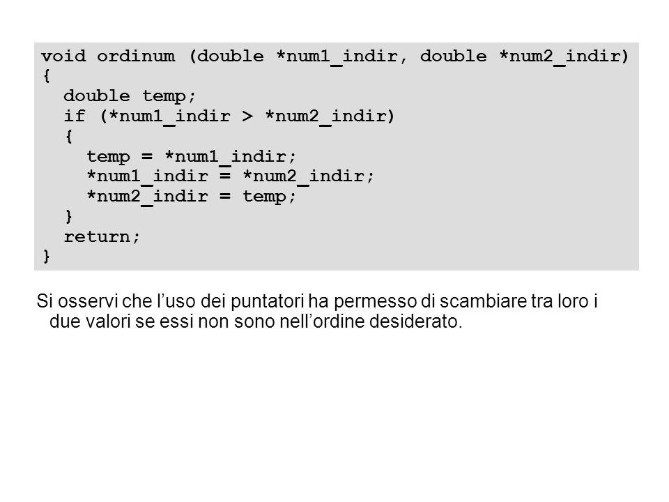 void ordinum (double *num1_indir, double *num2_indir) { double temp; if (*num1_indir > *num2_indir) { temp = *num1_indir; *num1_indir = *num2_indir; *
