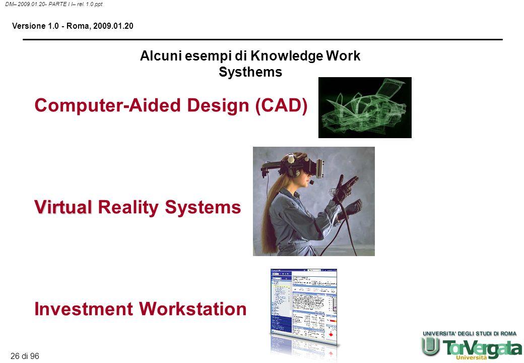 25 di 96 DM– 2009.01.20- PARTE I I– rel. 1.0.ppt Versione 1.0 - Roma, 2009.01.20 Creano nuovi prodotti o nuovi modi per migliorare quelli esistenti. L