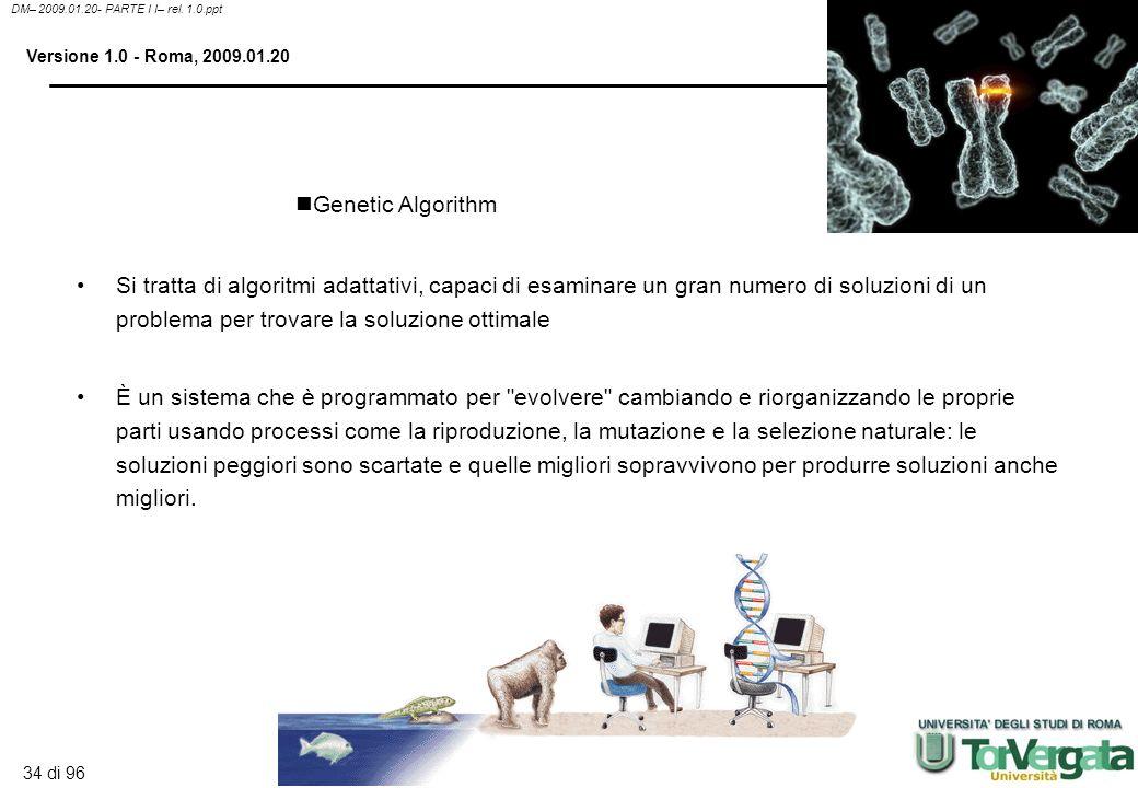 33 di 96 DM– 2009.01.20- PARTE I I– rel. 1.0.ppt Versione 1.0 - Roma, 2009.01.20 Sono sistemi Hardware e/o software che cercano di emulare le capacità