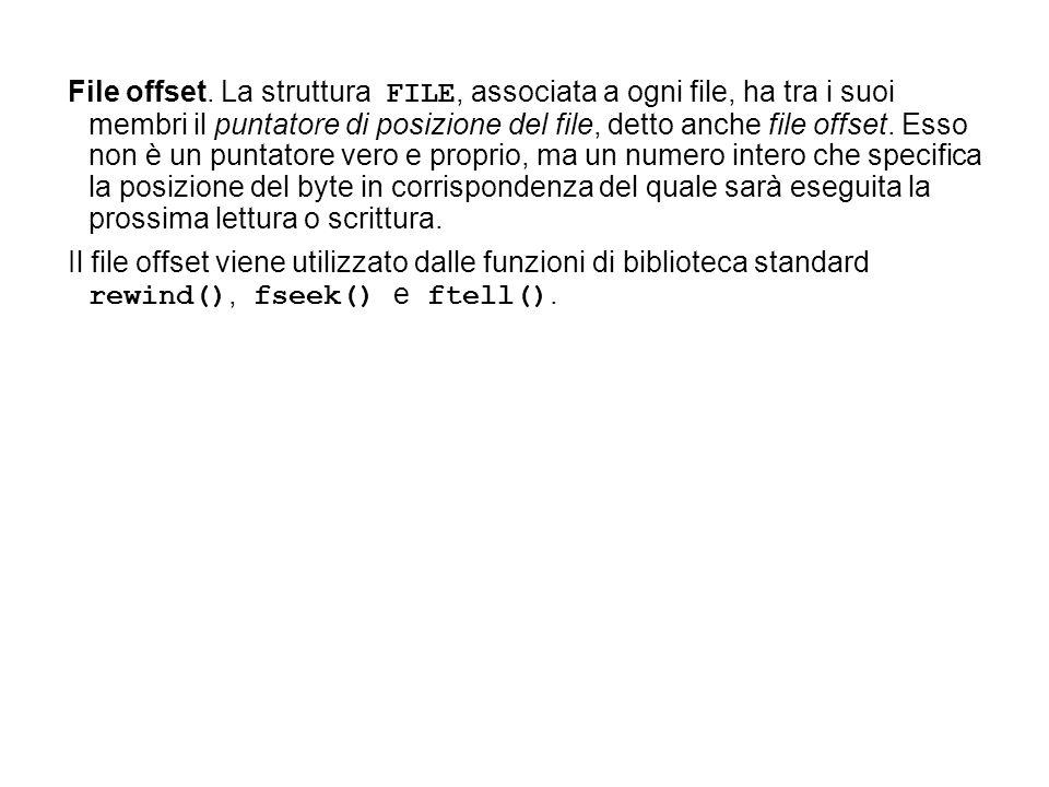 File offset.