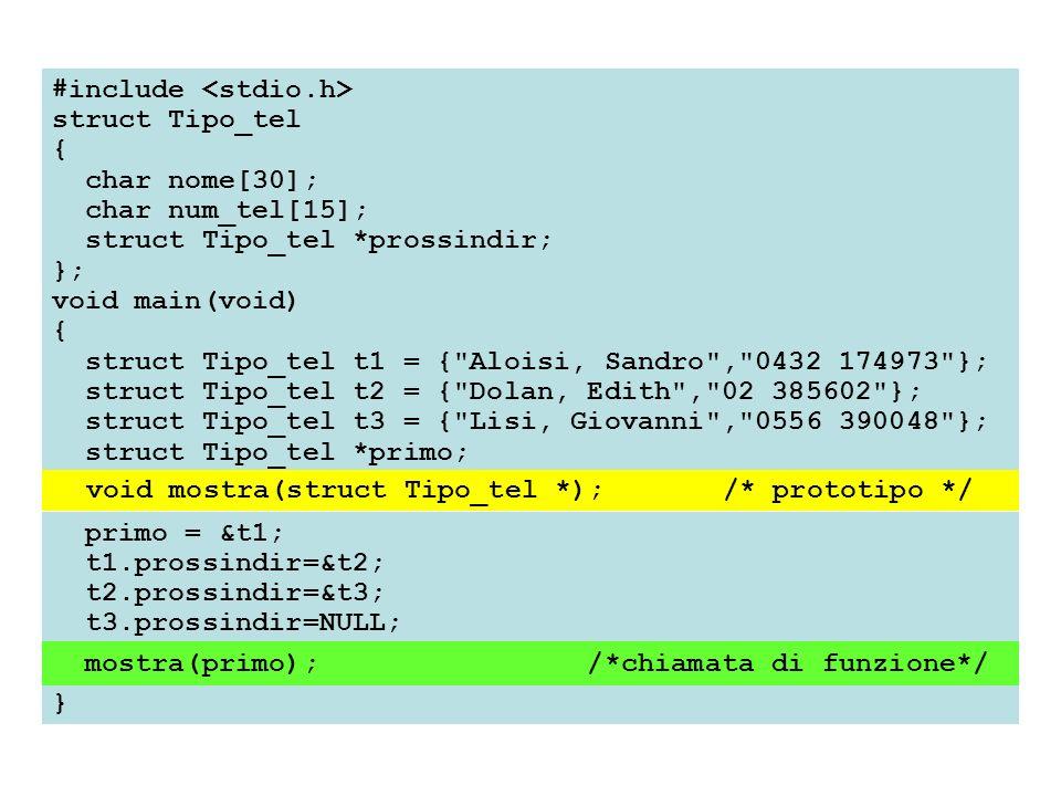 #include struct Tipo_tel { char nome[30]; char num_tel[15]; struct Tipo_tel *prossindir; }; void main(void) { struct Tipo_tel t1 = {